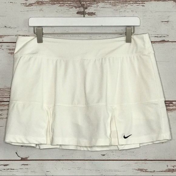 Nike Dresses & Skirts - Nike Tennis Skort Dri Fit Skirt L White Pleated
